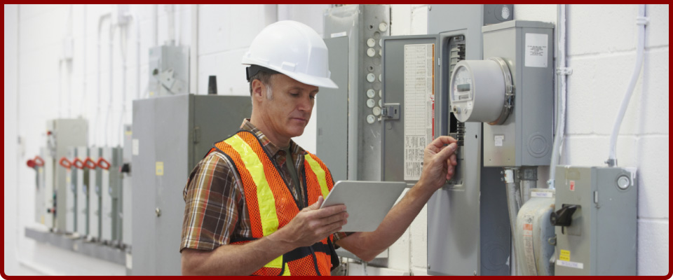 Man working with electrical components