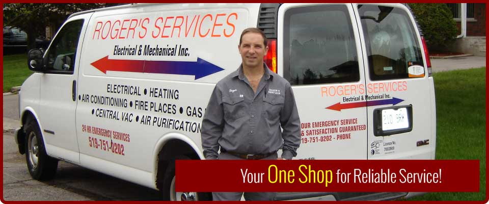 Your One Shop for Reliable Service! | Man services air conditioner